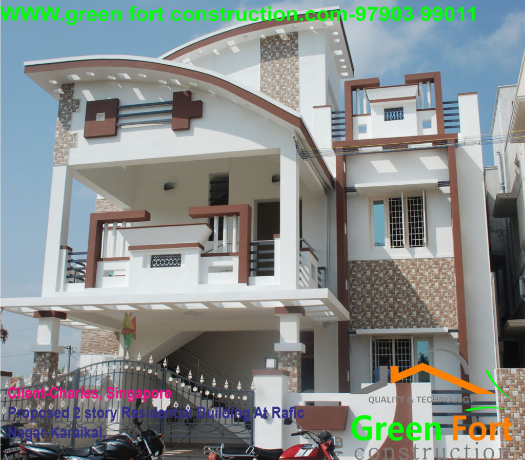 Two storey Residential Building at Rafic Nagar-Karaikal