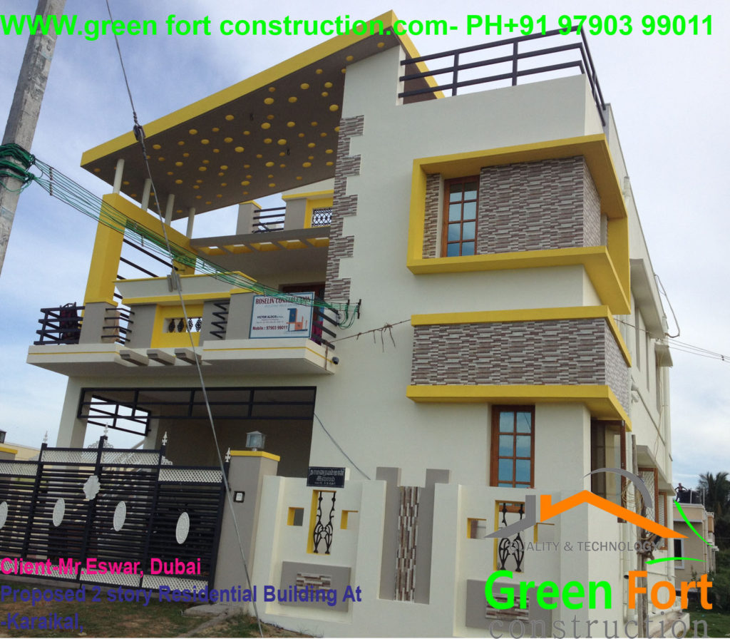 Two storey Residential Building at EB Nagar-Karaikal